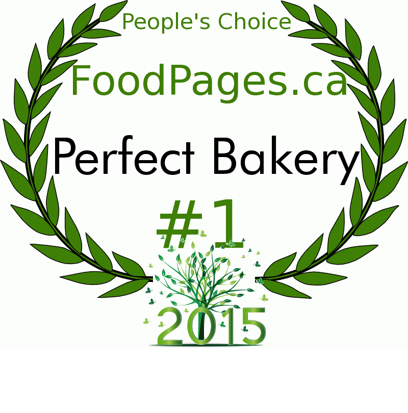Perfect Bakery FoodPages.ca 2015 Award Winner