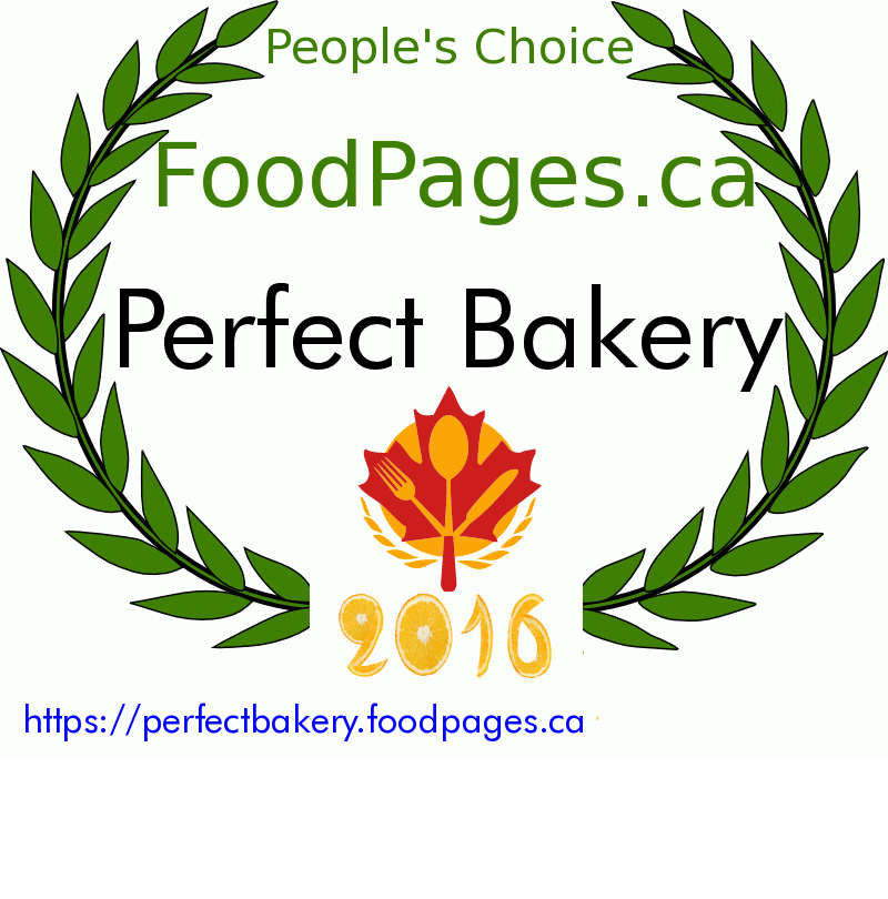 Perfect Bakery FoodPages.ca 2016 Award Winner